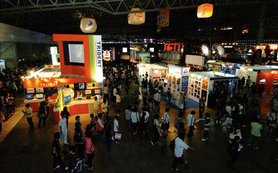 Gaming fans begin filling the halls of Makuhari Messe at the Tokyo Game Show Sept. 26.