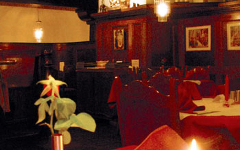 The restaurant, with about a dozen tables, is small but popular.