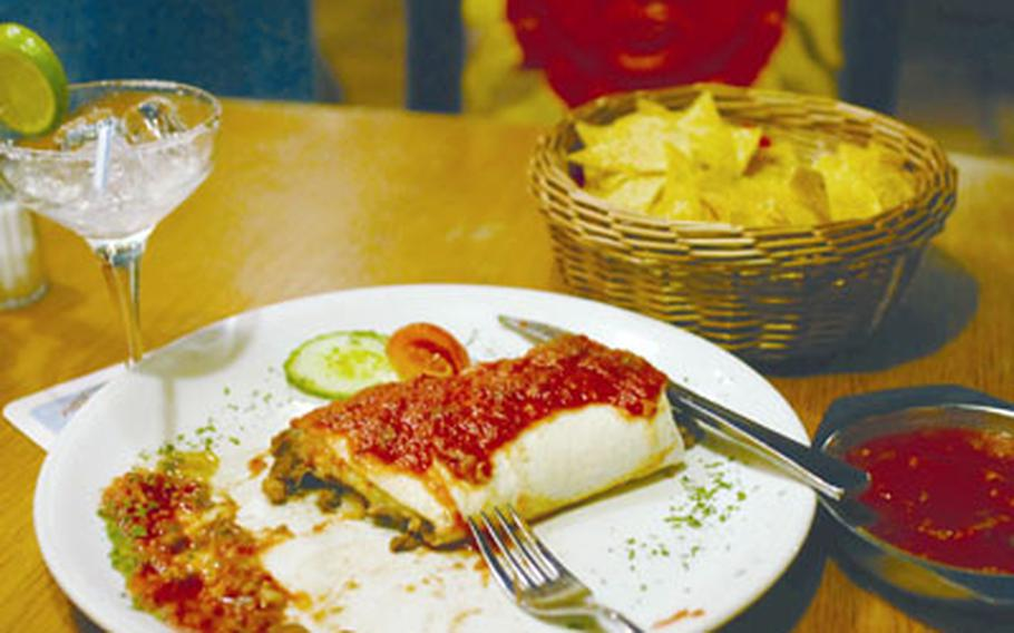 Cantina Mexicana in Einsiedlerhof offers plenty of filling plates, such as shredded beef burrito de carne and chips and salsa. The restaurant also has enchiladas, fajitas and an assortment of Mexican beers.