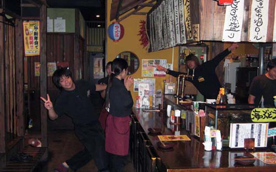 Friendly staff at Okinawa Batake in Chatan, Okinawa, add fun to a relaxing and comfortable setting.