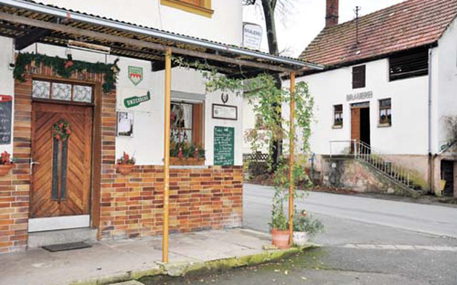 Dan Blottenberger/Stars and Stripes The family-owned Zum Välta guest house, left, and the Brewery Fossel-Mazour, right, have been providing live music and beer in Appendorf, Germany, every Friday night for the past 20 years.