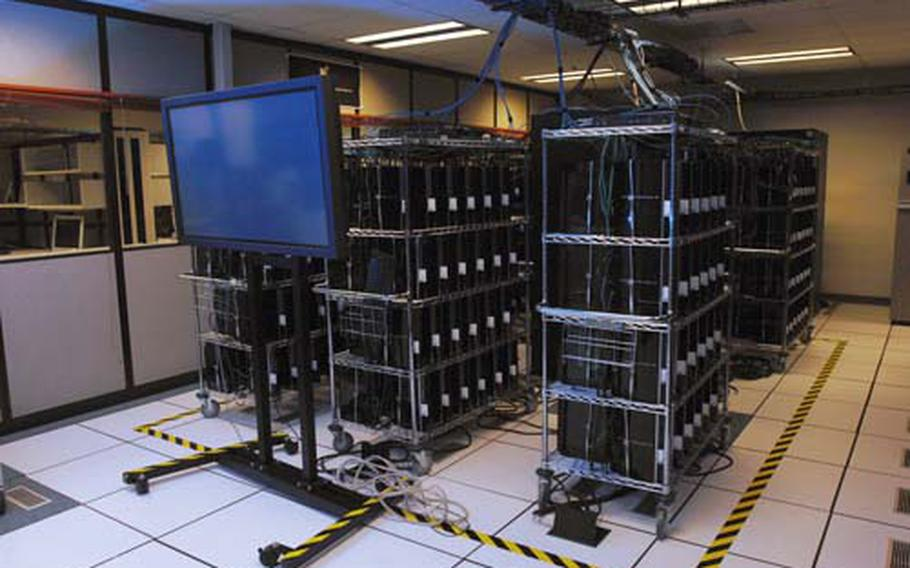 This cluster of 336 PlayStation 3 video game consoles is the beginning of a cluster of more than 2,000 consoles the Air Force is purchasing to create a supercomputer called 500 TeraFLOPS Heterogeneous Cluster, which will be housed at the Air Force Research Laboratory's Affiliated Resource Center in Rome, N.Y.