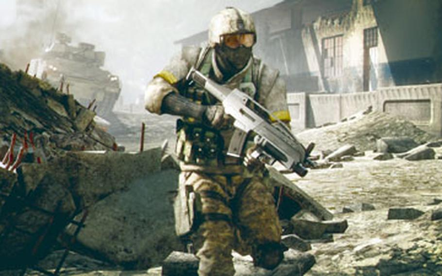 """""""Battlefield: Bad Company 2"""" offers online players plenty of vehicles to drive and buildings to demolish."""