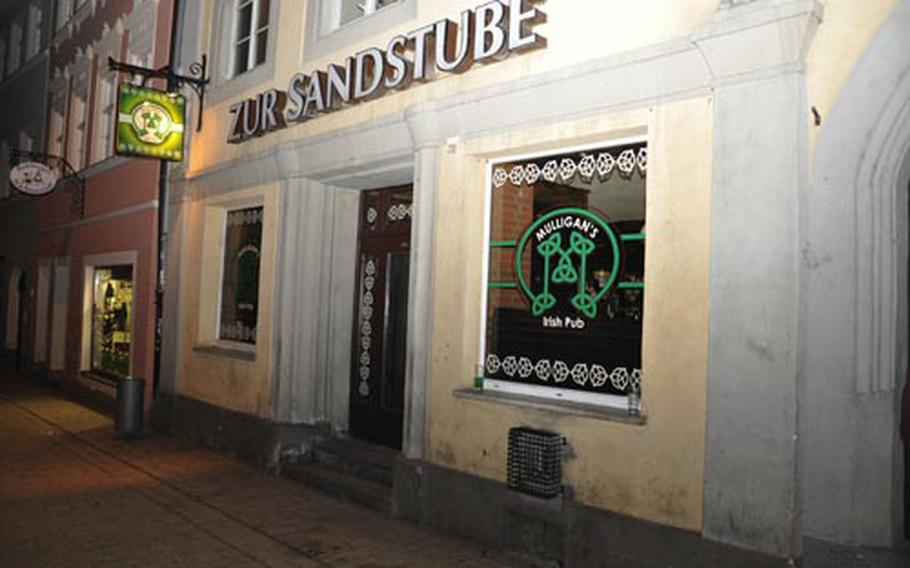 Mulligan's Irish Pub is in the Sandstrasse entertainment area in the old part of downtown Bamberg, Germany. The place has been an Irish-style pub on and off for 20 years.