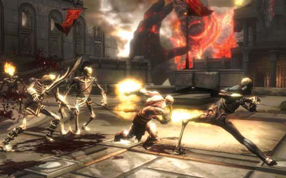 """Kratos returns to wrap up his bloody action trilogy in """"God of War III"""" on the PlayStation 3."""