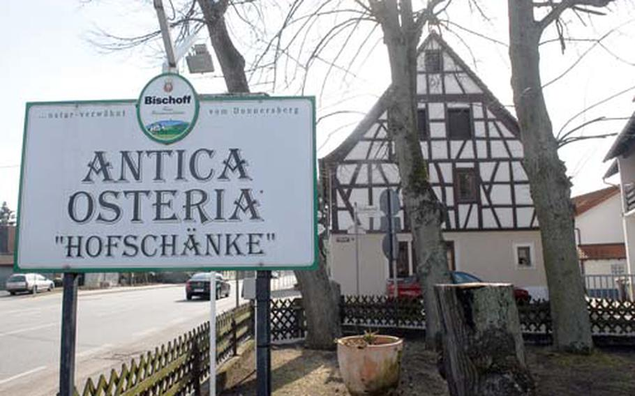 Specialties at the Italian restaurant Antica Osteria near Mehlingen, Germany, include homemade pasta and meat and fish dishes from the Verona region.