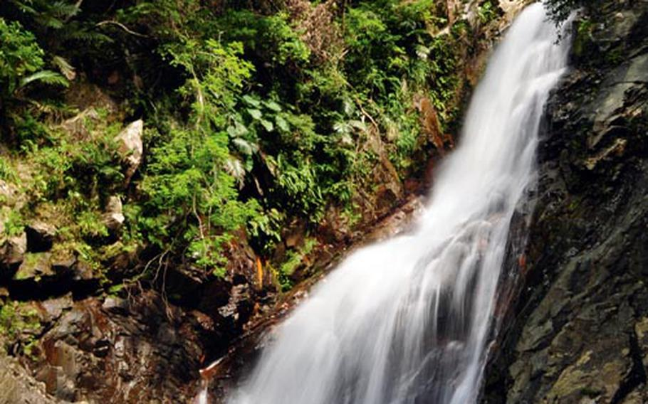 After a 30-minute hike to our destination, Hiji Falls was revealed in all of its glory.