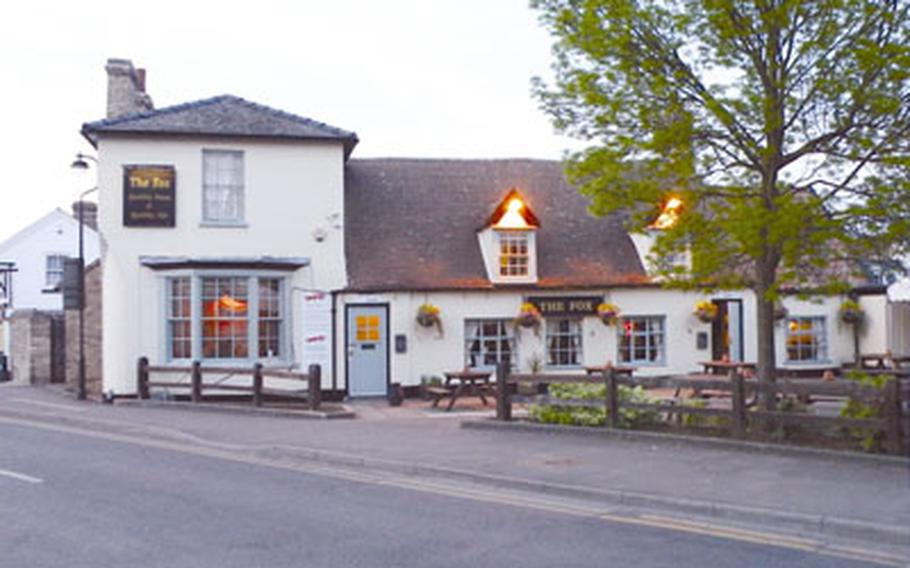 The Fox in Burwell, England, offers seating for up to 36 inside with more tables in a nearby garden.
