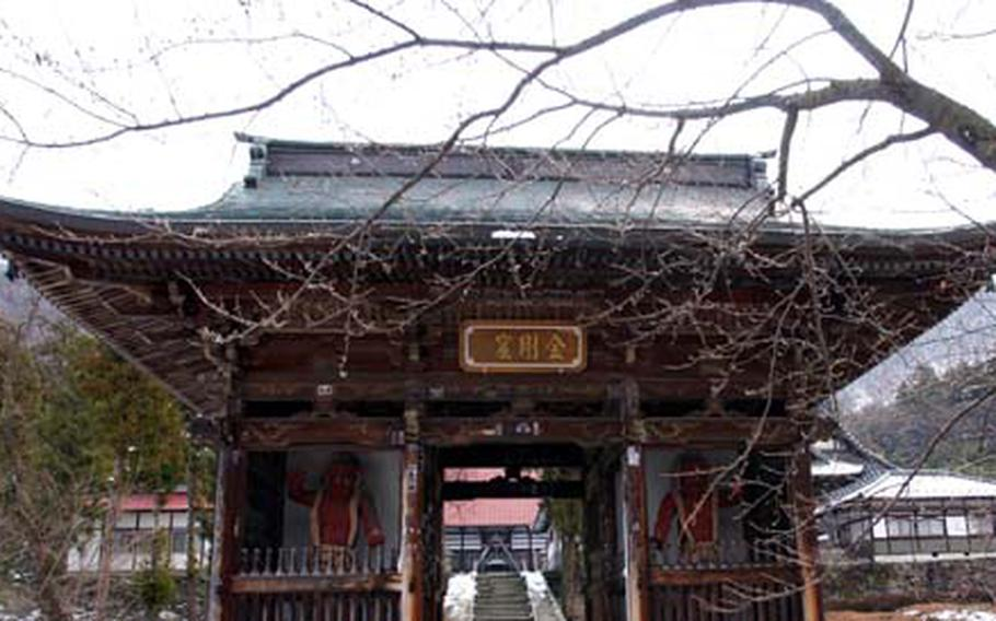 Obuse's Ganshoin Temple has gardens, history and beautiful views of Obuse.