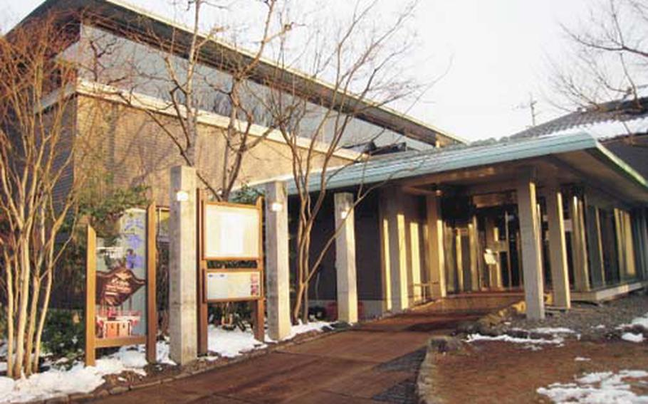 Golden light from the evening sun is cast on the Hokusai Museum in Obuse, Japan, where some of the works of the famous Japanese painter and block printer Hokusai are displayed.