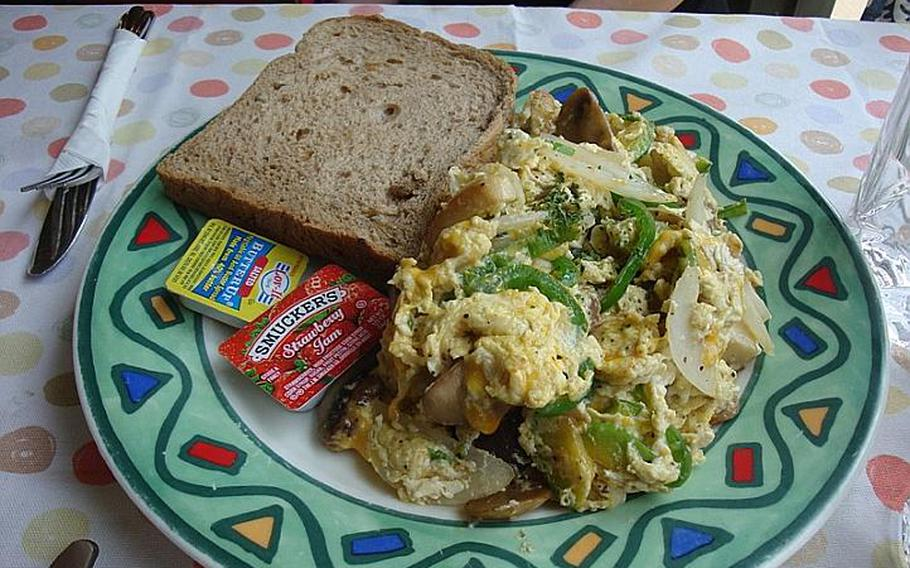 The vegetable scrambler is one of the better brunch dishes available at Indigo.