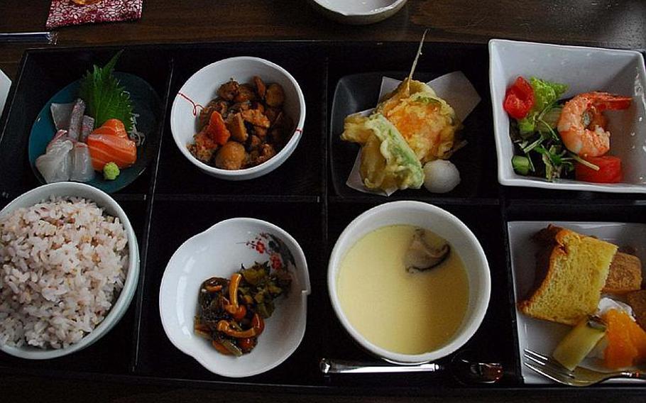 The lunch special at Kuu near Sasebo Naval Base, Japan.
