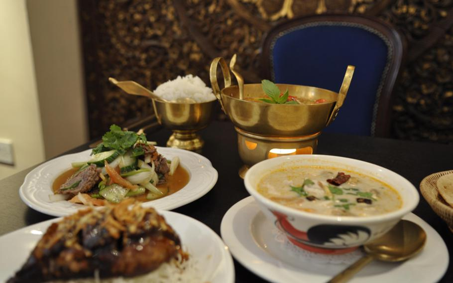 A bevy of freshly prepared, delicately seasoned dishes await customers at Sangdao Thai Restaurant in Newmarket.