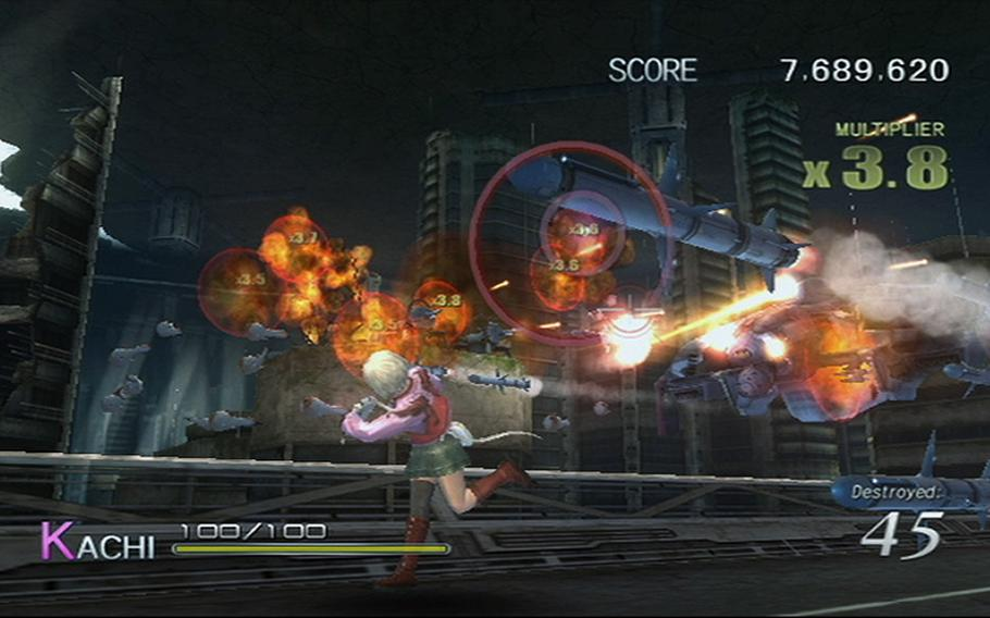 """""""Sin & Punishment: Star Successor"""" is an arcade-style shooter."""