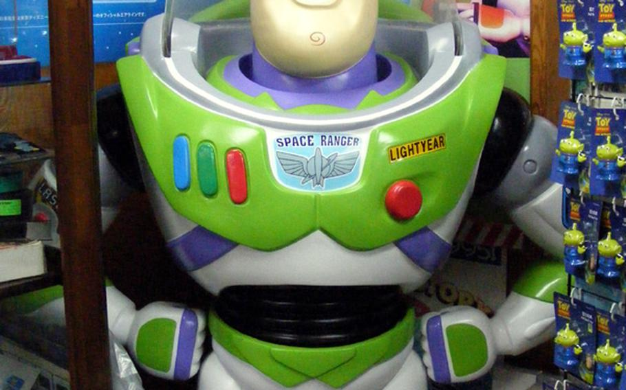 This 5-foot-tall plastic Buzz Lightyear is one of only 35 in the world, says Kentaro Ishihara, owner of a 'Toy Story' collectibles shop in Ginowan, Okinawa. You can have it for about $4,600.