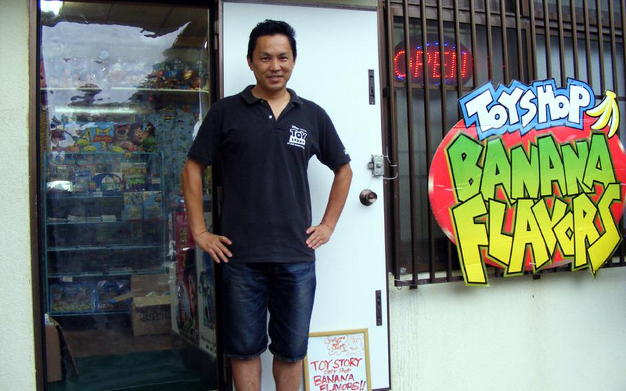 Kentaro Ishihara started selling 'Toy Story' collectibles at Okinawa flea markets in 1996. He now owns one of the largest 'Toy Story' collectible businesses in the world.