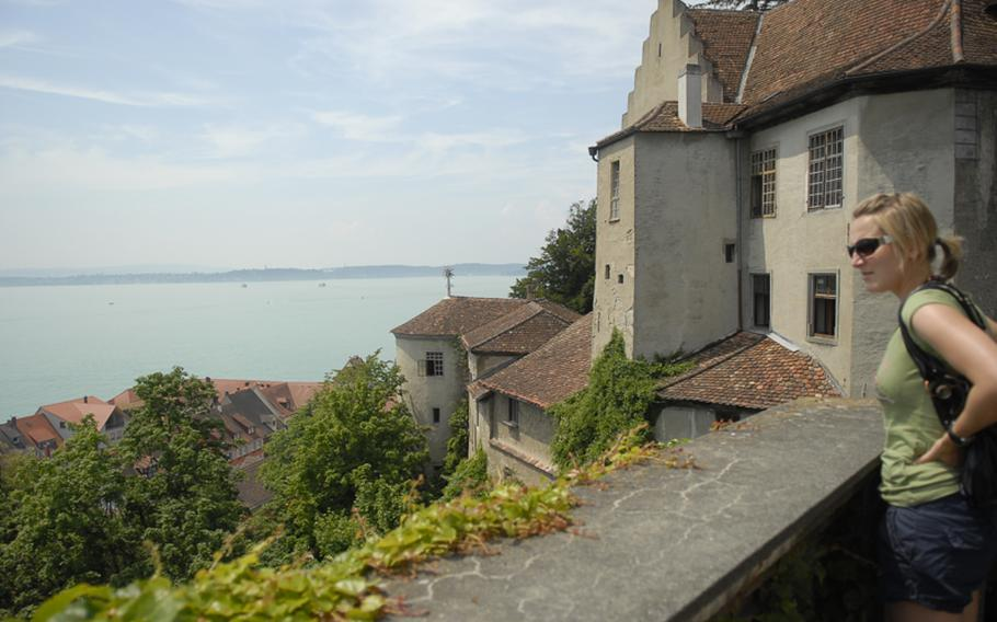 The Old Castle sits above Meersburg, Germany, offering sweeping views of the lake. The fortress, which dates to around the seventh century, is open for tours.