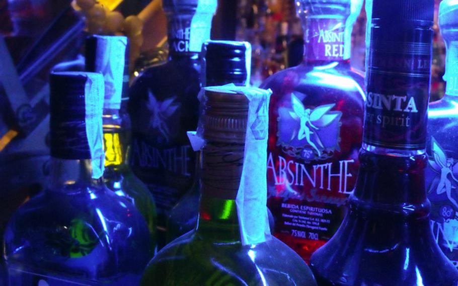 About 30 different strengths (and a few flavors) of absinthe are available for the daring at Il Chjostro in Aversa, Italy. The bar/restaurant/disco prides itself on providing high-quality drinks at reasonable prices for its customers.