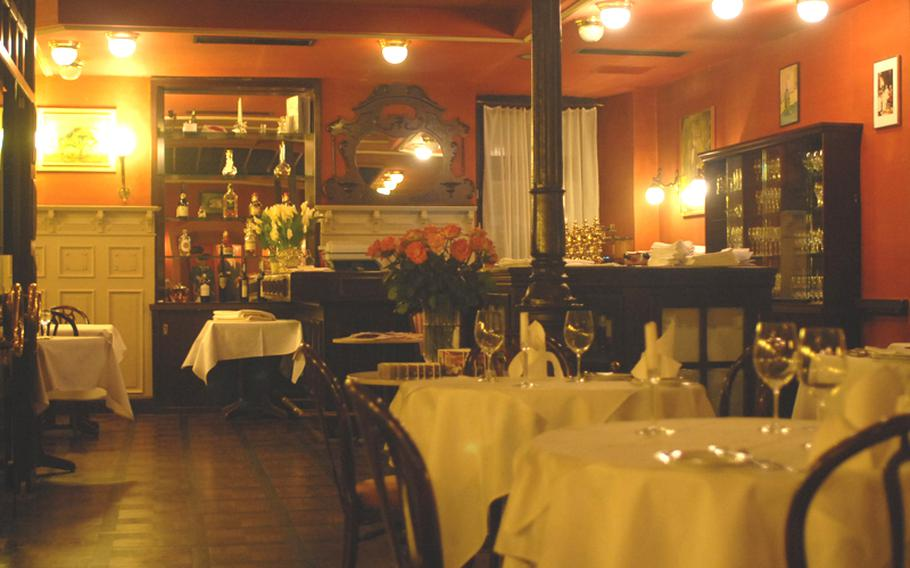 Simplicissimus in Heidelberg's old town offers French cuisine and ambience.