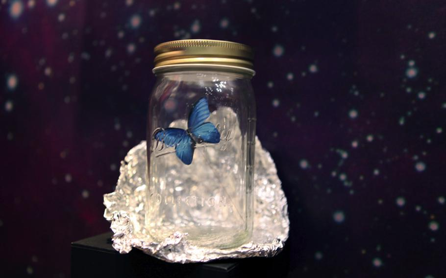 The Chouchou is a fake butterfly in a jar that is so lifelike you might not be able to tell it from the real thing. Tapping the jar prompts it to flutter around.