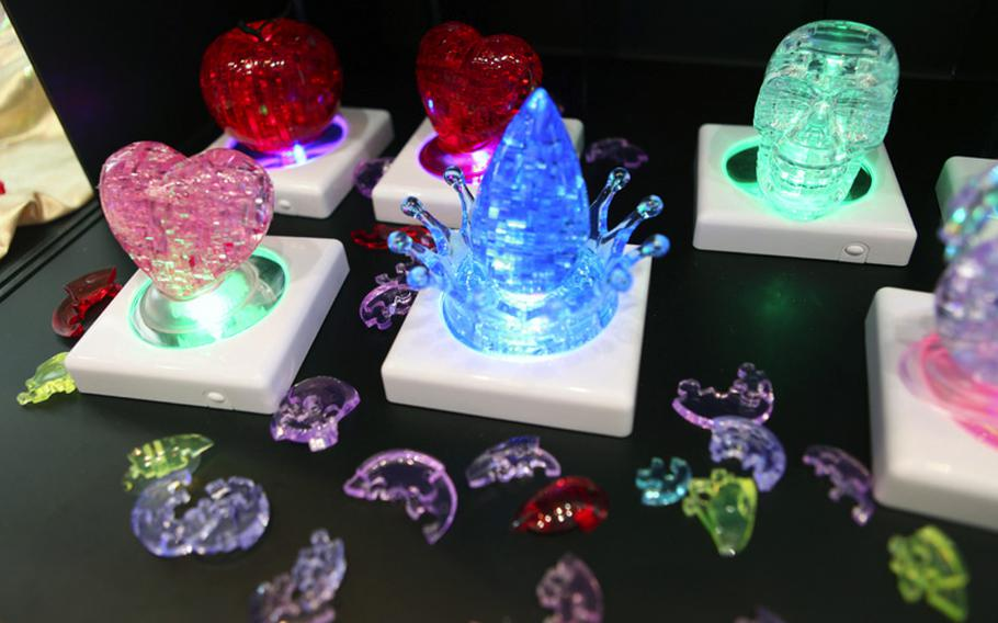 Crystal Puzzles are clear, three-dimensional puzzles that, when put together, can make for a nice display.