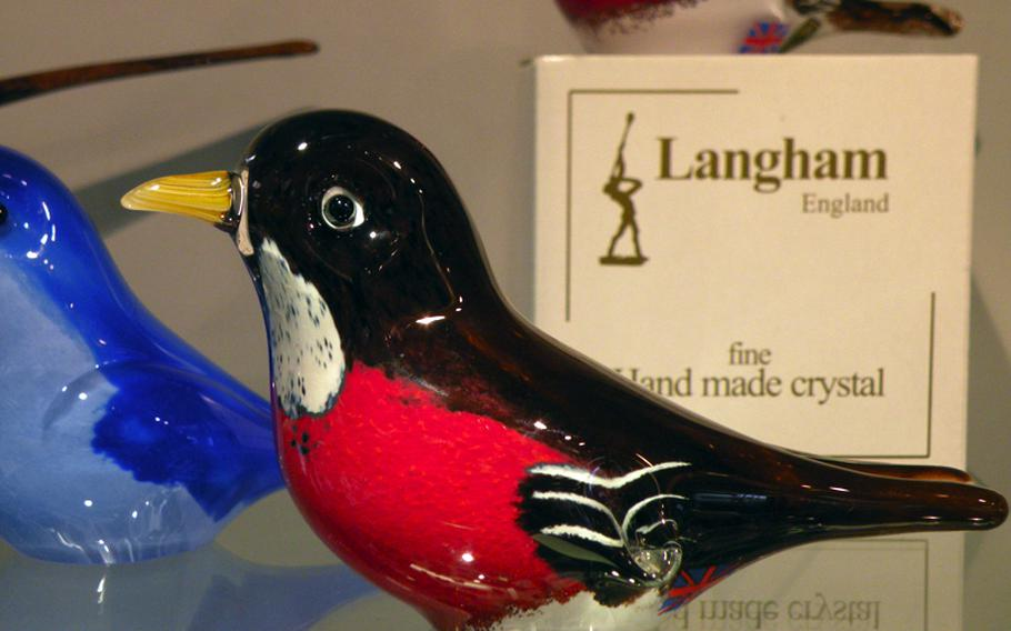 Part of the recent collection at Langham Glass is a selection of North American birds.