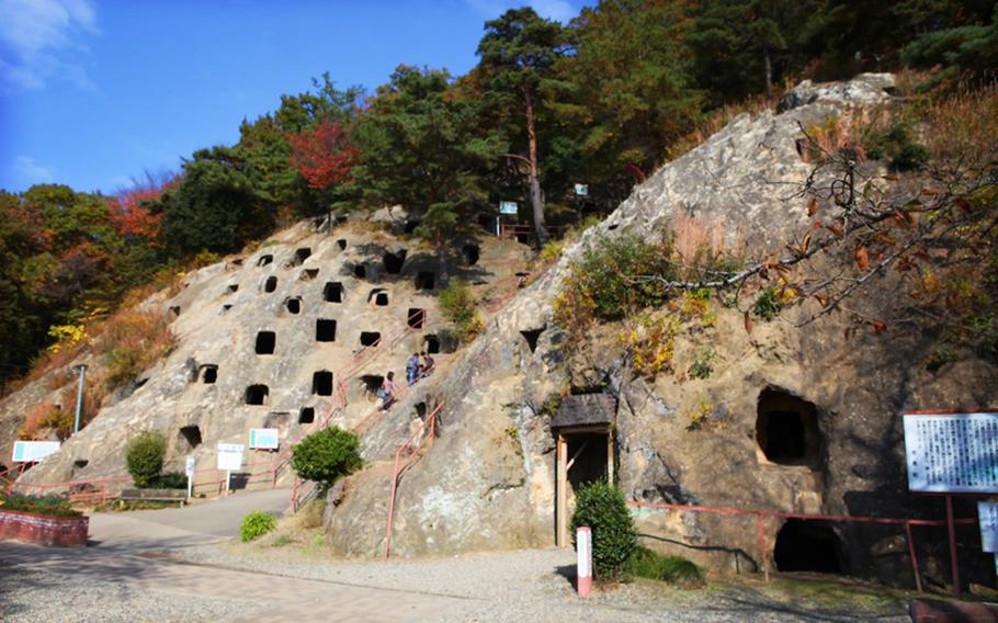 The Yoshimi Hyakuana tombs have a history as both an ancient Japanese burial ground and a World War II munitions factory.