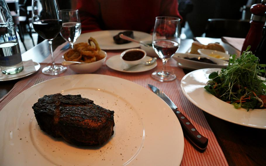 Christophorus steakhouse in the Porsche Museum serves prime Black Angus beef imported for the U.S. cooked in 1,500-degree-Fahrenheit ovens also imported for the U.S. to create a true American-style dining experience in Stuttgart.