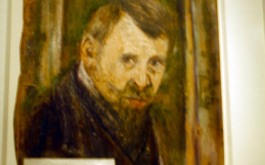 A self-portrait by Josef Forster portrays himself as  Shylock, the reviled play, The Merchant of Venice.