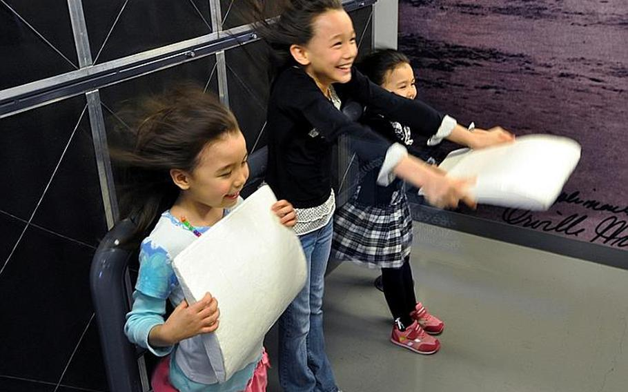 Children love the wind tunnel exhibit at the Misawa Aviation and Science Museum Aomori.