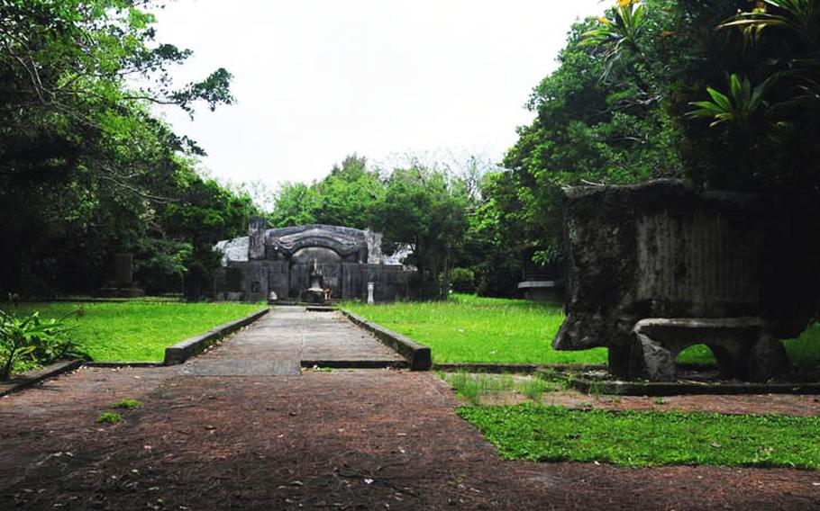 The monument for fallen warriors who fought in Bougainville, Papua New Guinea was located off a small path from the main road.