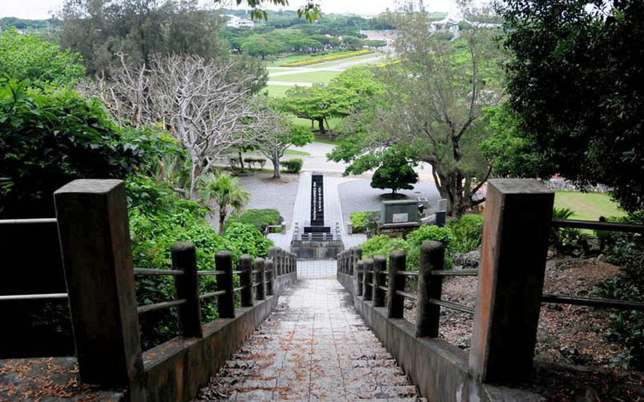 A memorial at Peace Prayer Park on Okinawa.