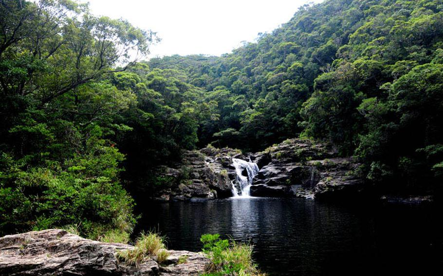 Aha Falls is well worth the drive up north to escape the blistering hot temperatures this time of year on Okinawa.