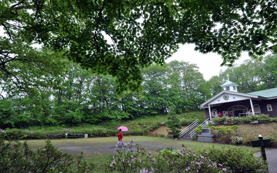 A small chapel sits on top of a mountain in Shingo, Japan, where local villagers say that Jesus Christ is buried.