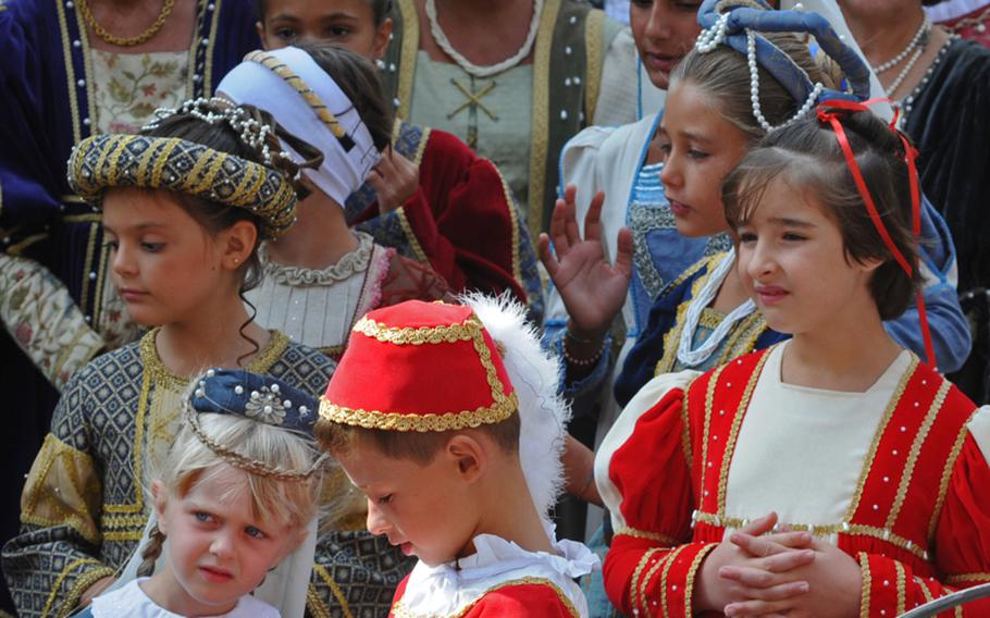 Even the youngsters come out in elaborate costumes during Noli's annual medieval festival. The youngsters have a lot to keep them busy during the event, including a parade and a boat regatta.