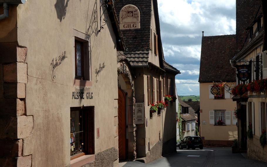 Domaine Gilg is among some 20 winemakers in Mittelbergheim, France.