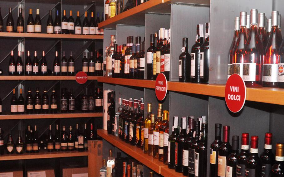 Vineria offers customers the choice of roughly 1,000 labels of wines produced in Italy and France - either with your meal or in a bottle to take home.