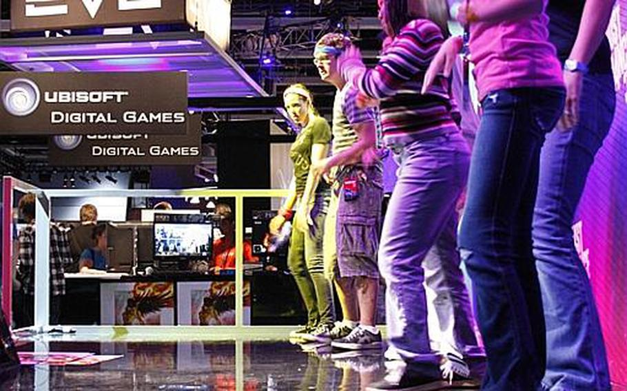 """Few PAX attendees were ashamed of their dancing skills, and many volunteered to try out """"Just Dance 3"""" at the Ubisoft booth Aug. 30."""