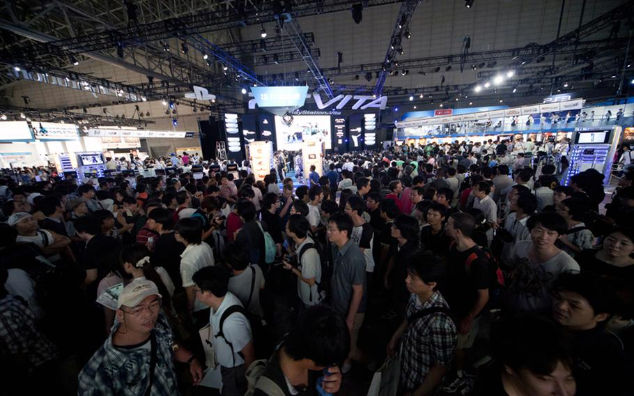 Gamers flocked to Chiba Prefecture's Makuhari Messe convention center Saturday for the annual Tokyo Game Show 2011.