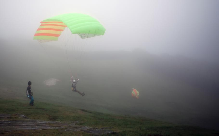 Fog-filled skies were just some of the minor obstacles faced during a recent paragliding trip to Izu this past August.
