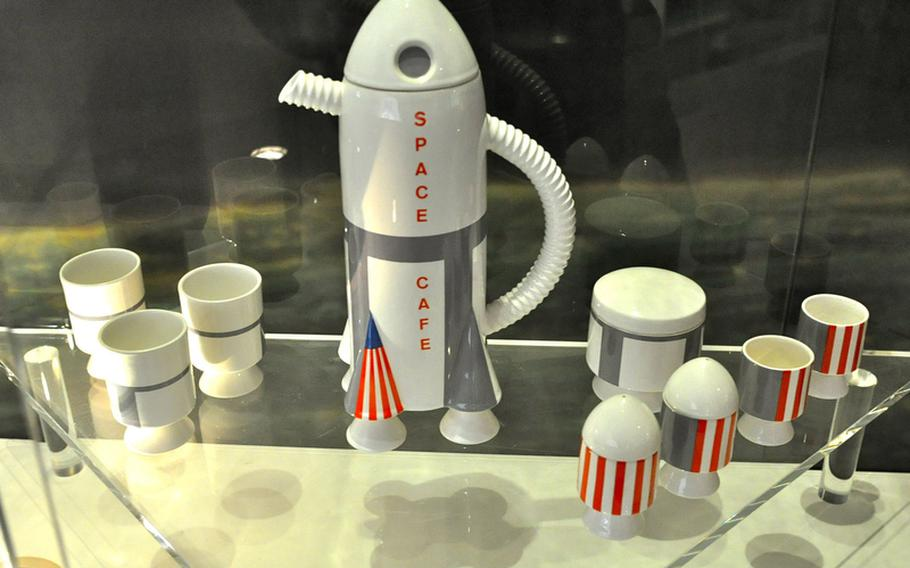 A space shuttle tea set represents Space Age exploration at the Villeroy & Boch museum in Mettlach, Germany.  The museum takes visitors through an abbreviated and somewhat oddtour of history and its influence on home decor.