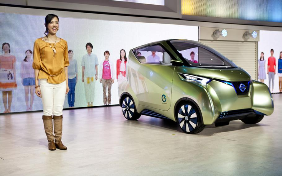 Nissan's Pivo 3 can recharge itself using a wireless signal.