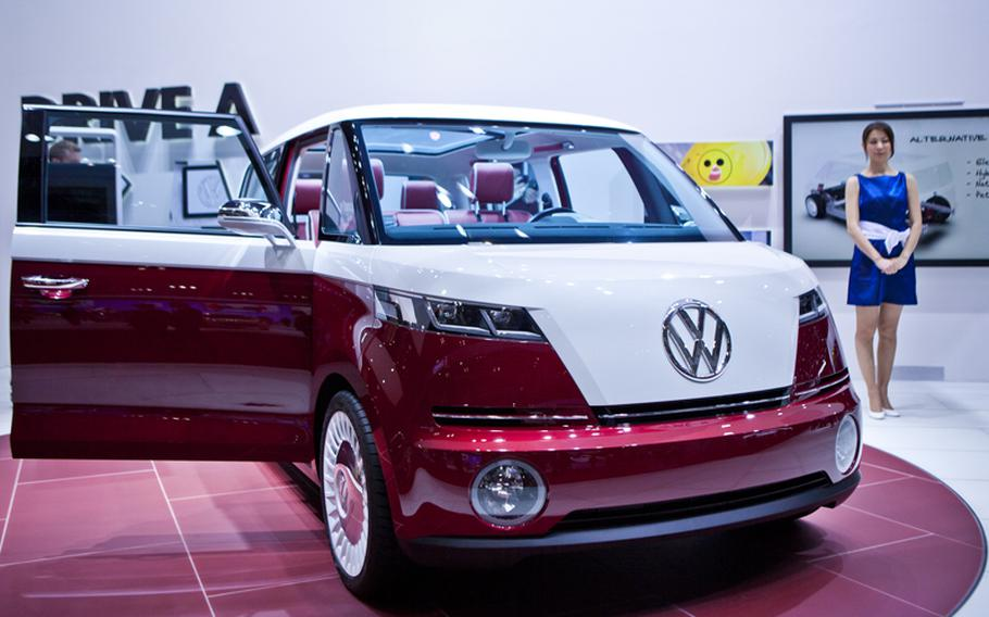 Volkswagen shows off Bulli, its microbus concept.