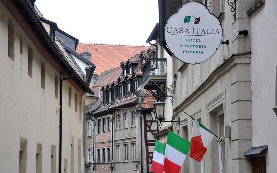 The Casa Italia restaurant, in the heart of Bamberg, Germany's old city, offers authentic Italian cuisine at a reasonable price.