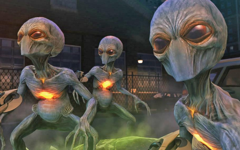"""Are those the aliens from """"Independence Day?"""" No, sadly, """"XCOM: Enemy Unknown"""" just needs a little help in the originality department. (AP Photo/2K Games)"""