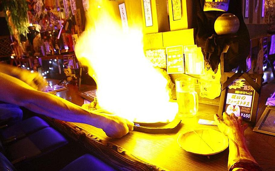 """It's not heartburn you need to worry about with Yurei's """"cremation spareribs."""""""