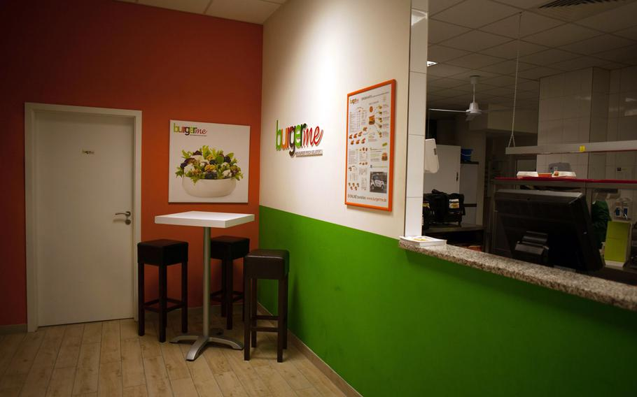 The interior of Burgerme in Kaiserslautern is small and spartan, unable to accommodate more than a handful of diners at a time. But the restaurant's main business is delivery.