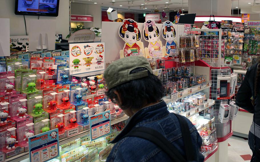 The first floor of Hakuhinkan Toy Park in Ginza is full of all the bizarre, Japanese toys and candies most Americans have only seen on the Internet.