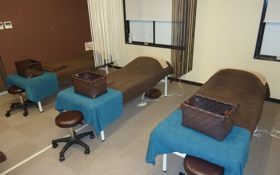 When patrons lie down on one of the comfortable massage tables at Riraku, their stress just melts away.