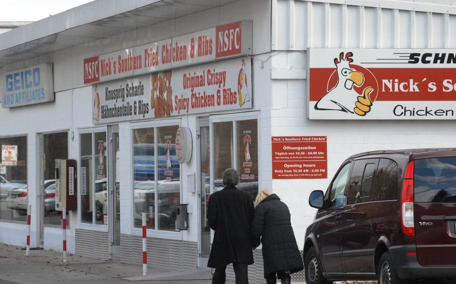 Nick's offers dependably good fried chicken and other meals from a convenient location just outside Vogelweh Air Base.